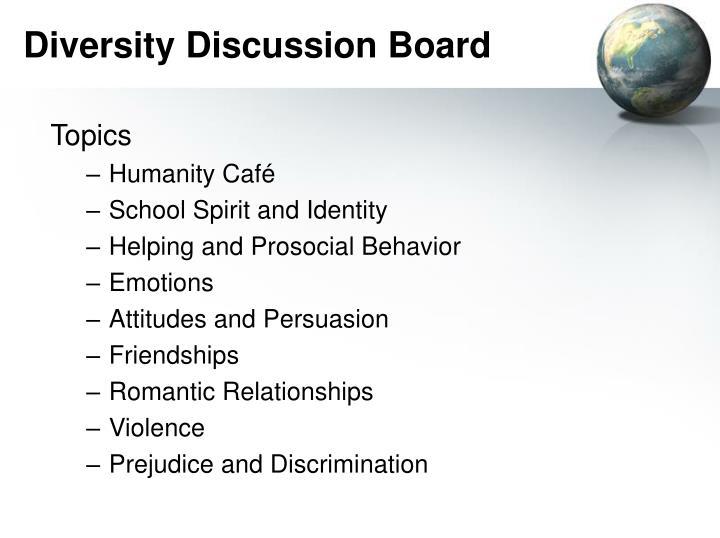 Diversity Discussion Board