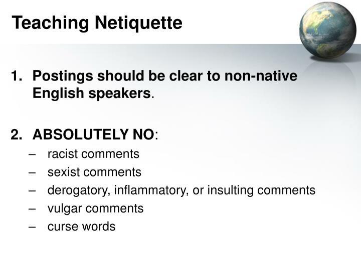 Teaching Netiquette