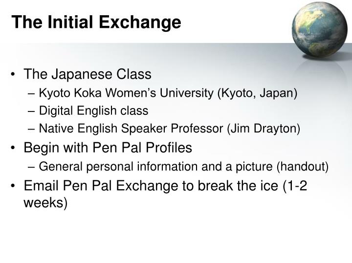 The Initial Exchange