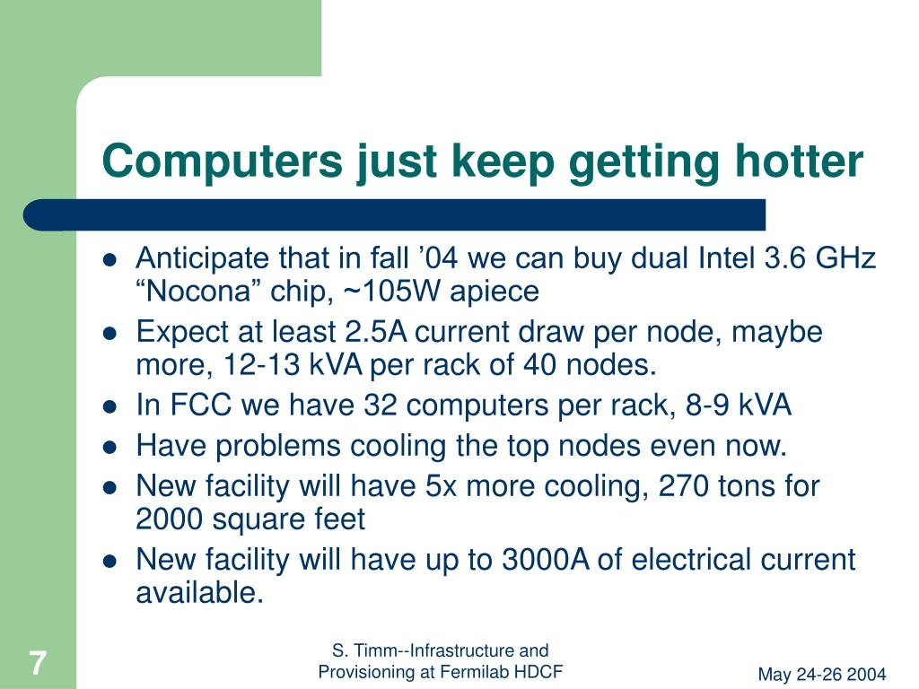 Computers just keep getting hotter