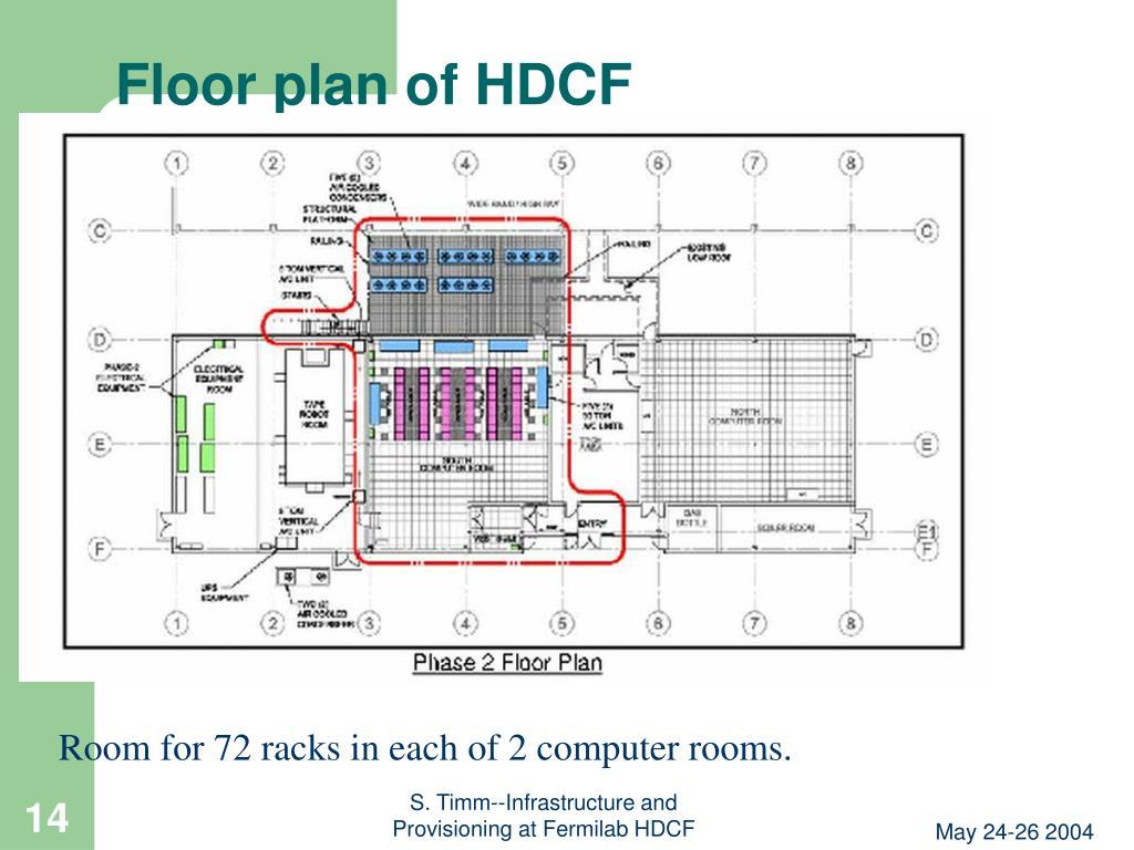 Floor plan of HDCF