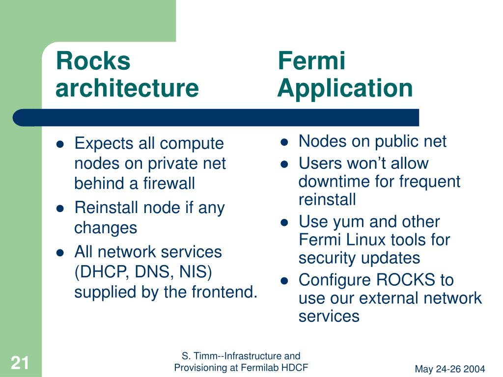Expects all compute nodes on private net behind a firewall