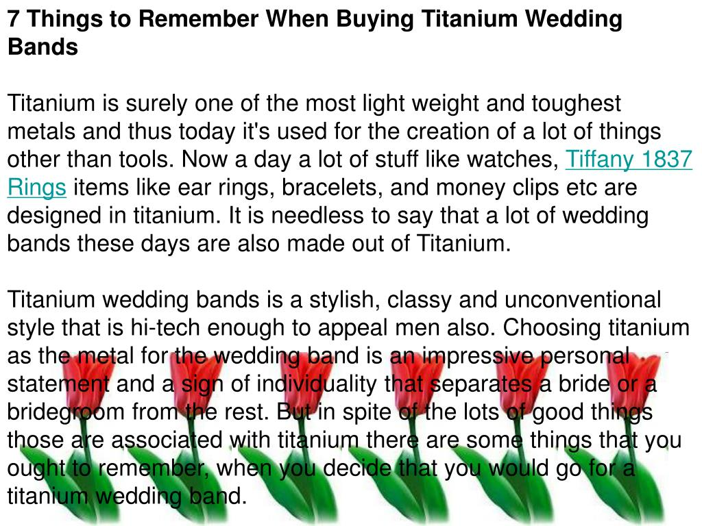 7 Things to Remember When Buying Titanium Wedding Bands