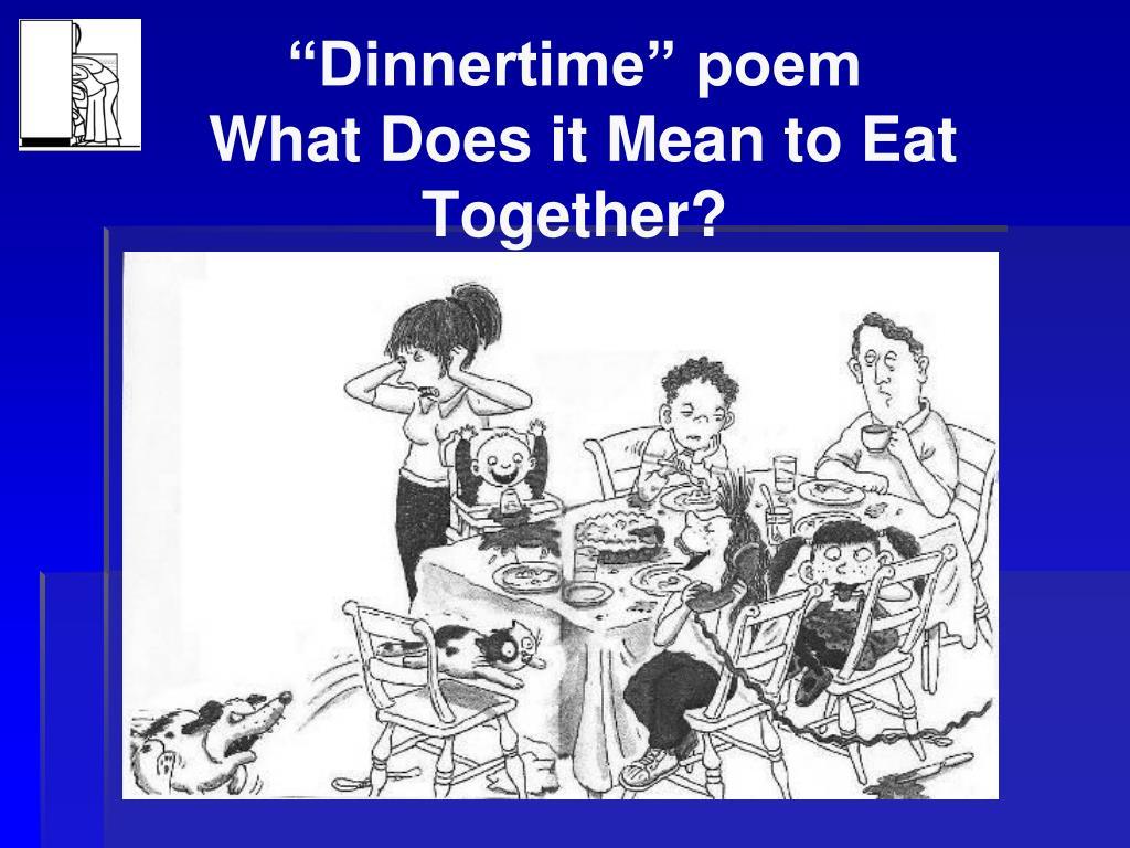 """""""Dinnertime"""" poem"""