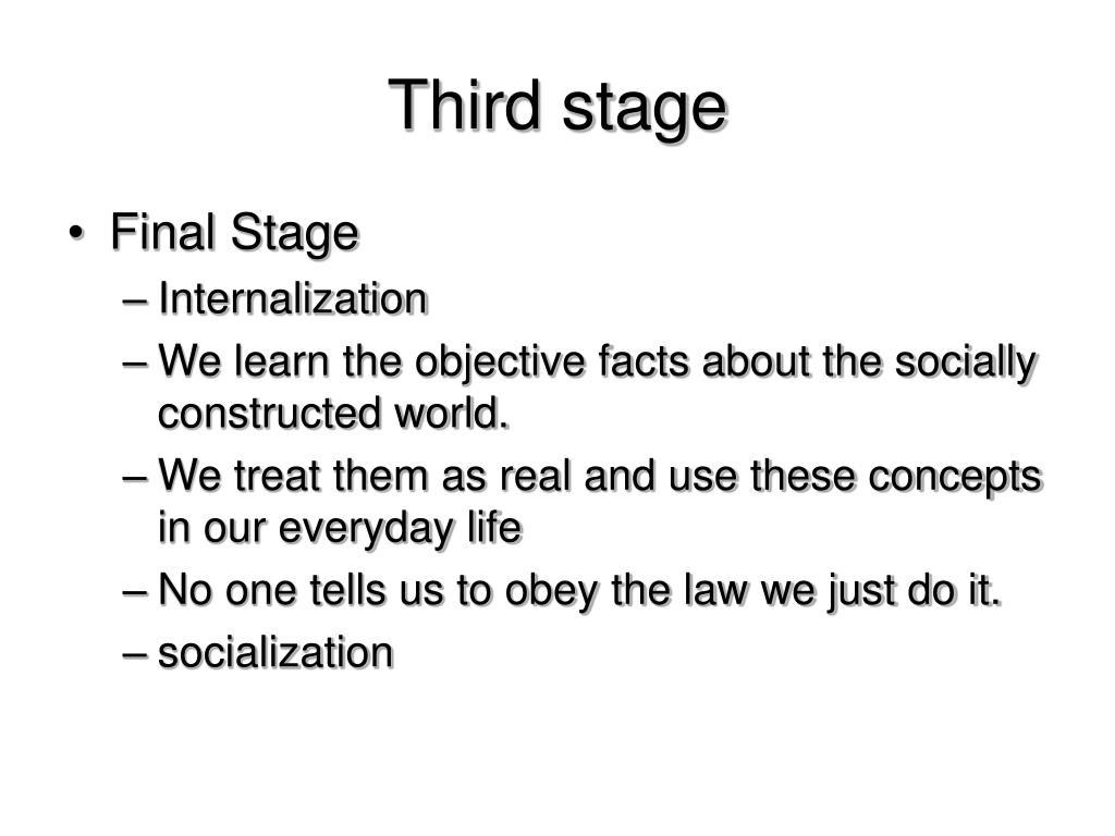 Third stage