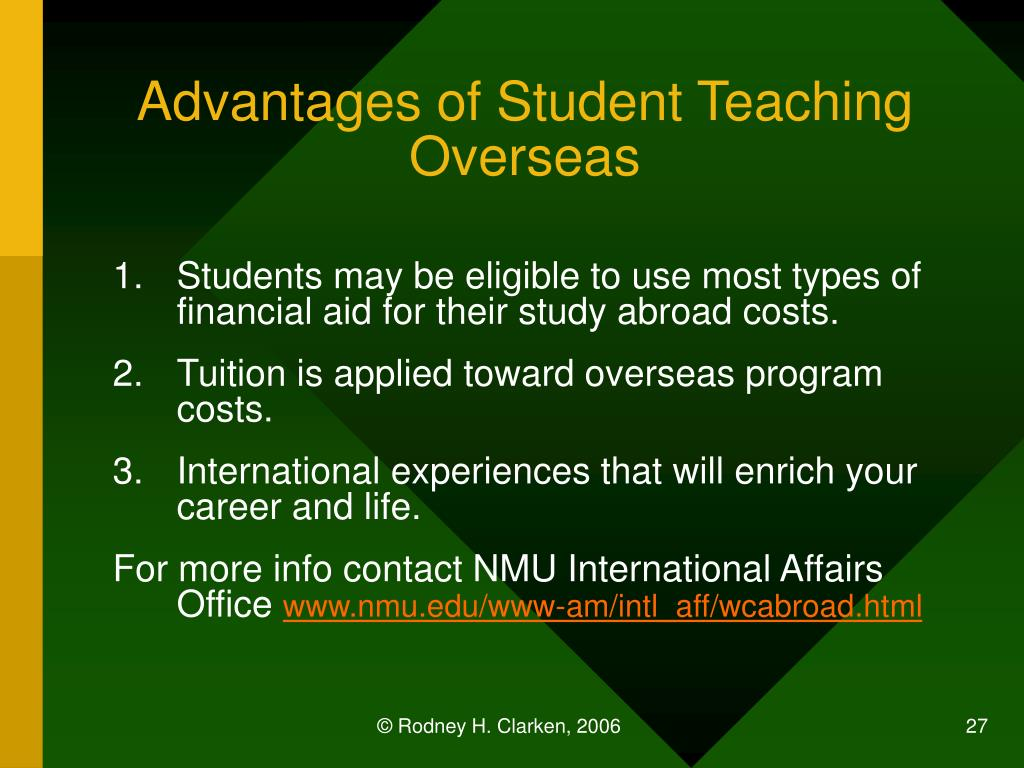 Advantages of Student Teaching Overseas