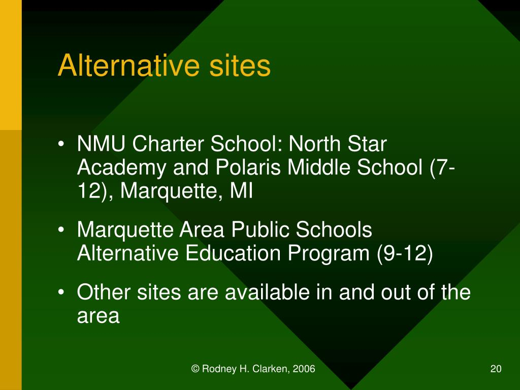 Alternative sites