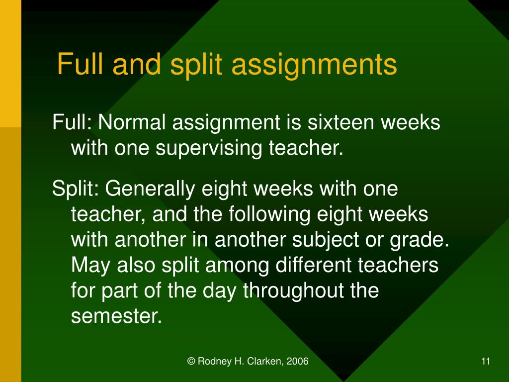 Full and split assignments