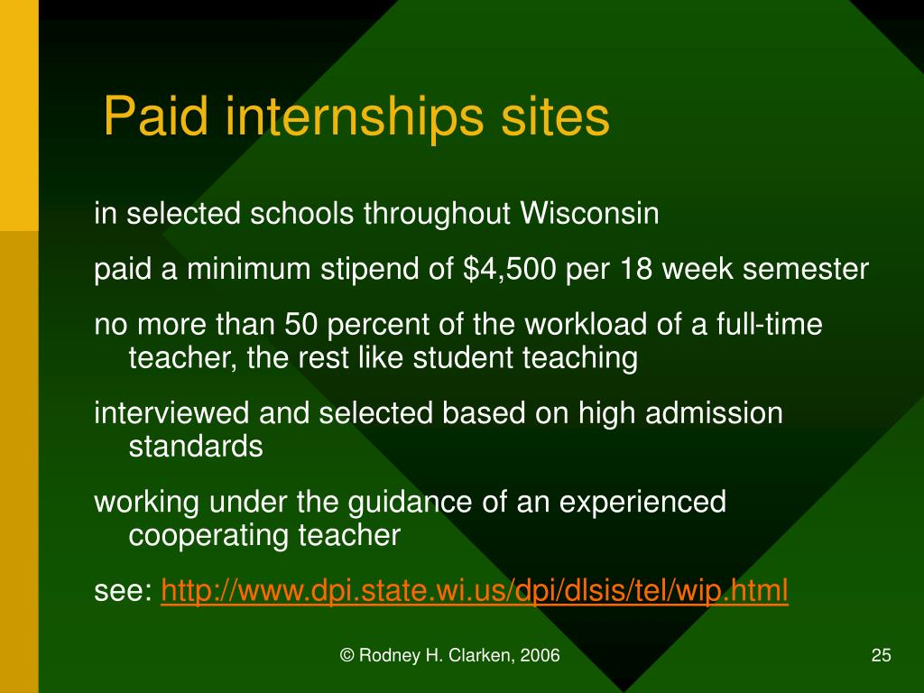 Paid internships sites