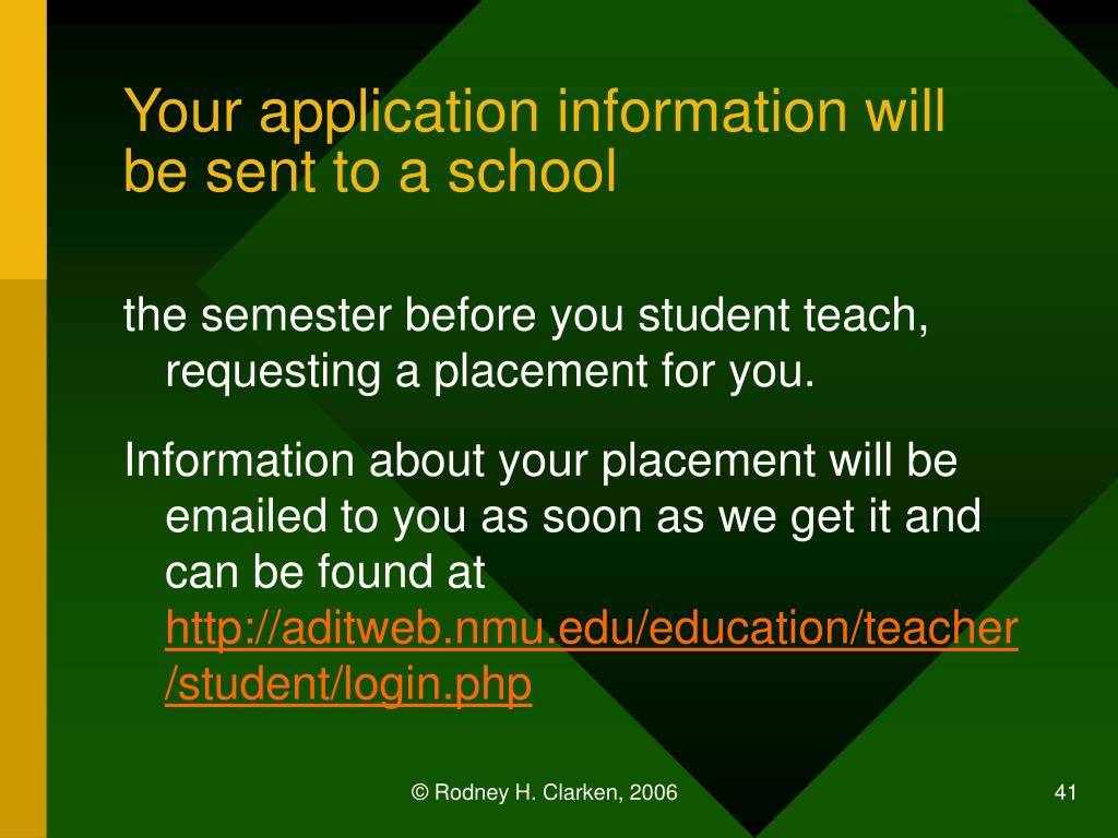 Your application information will be sent to a school