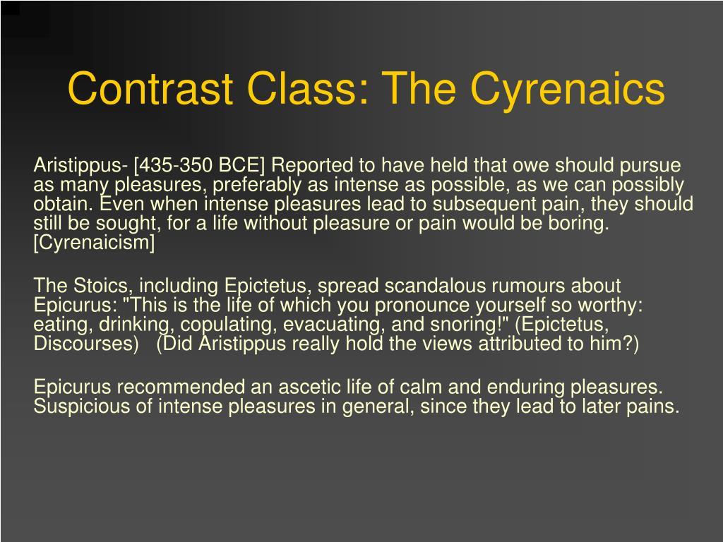 Contrast Class: The Cyrenaics