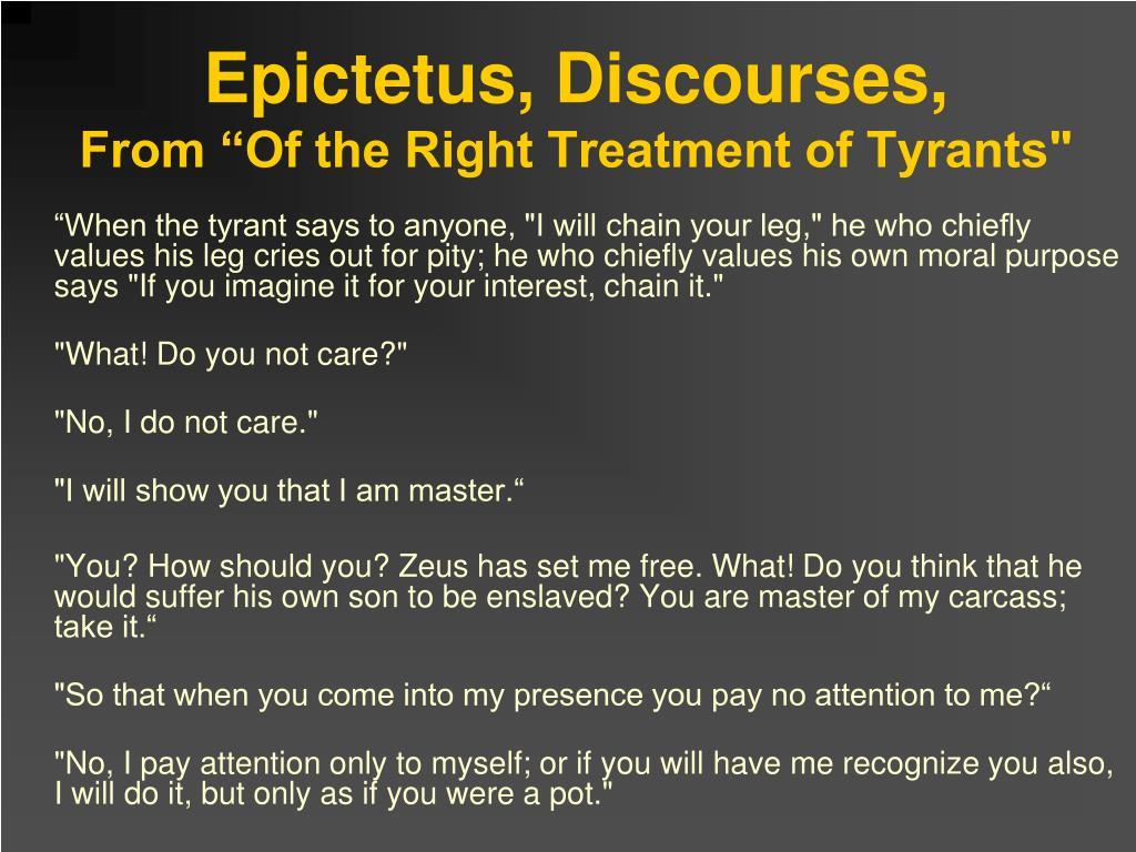 Epictetus, Discourses,