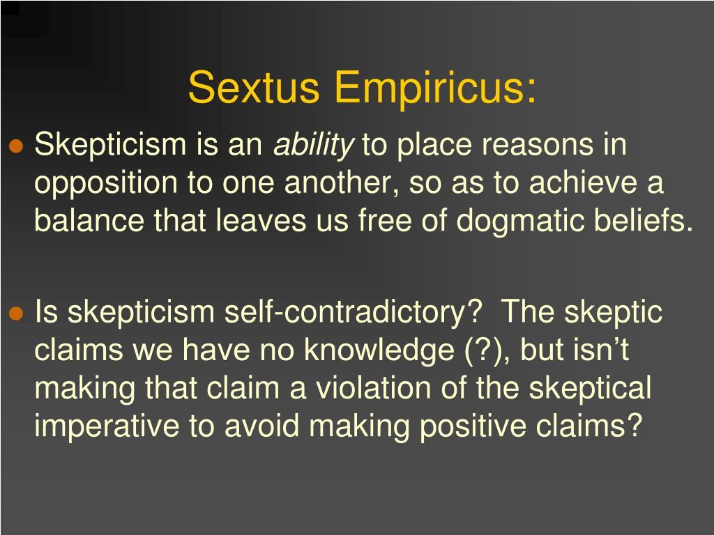 Sextus Empiricus: