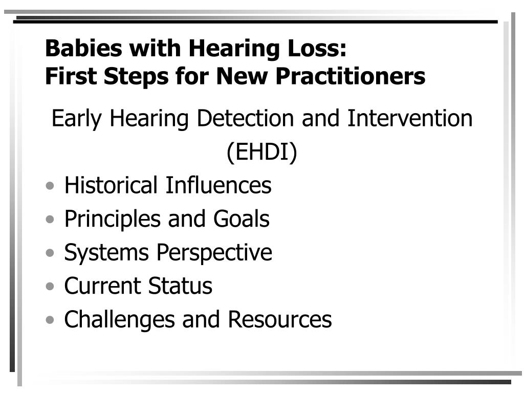 Babies with Hearing Loss: