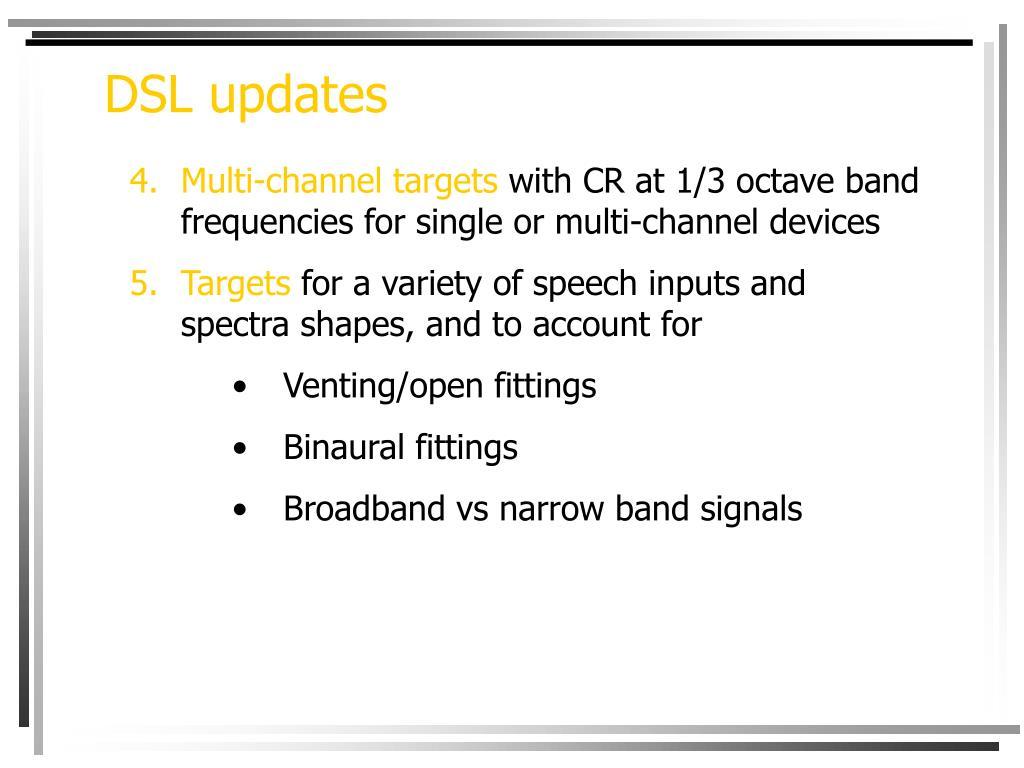 DSL updates