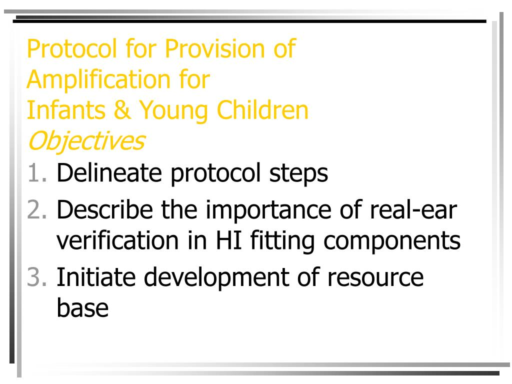 Protocol for Provision of
