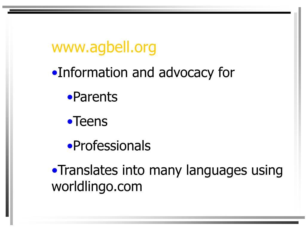 www.agbell.org