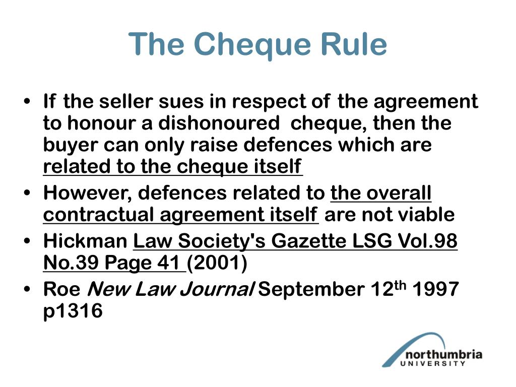 The Cheque Rule