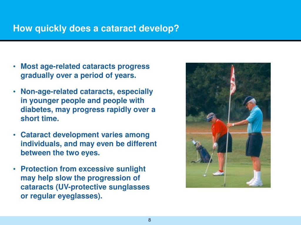 How quickly does a cataract develop?