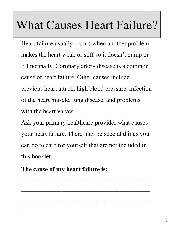 What Causes Heart Failure?