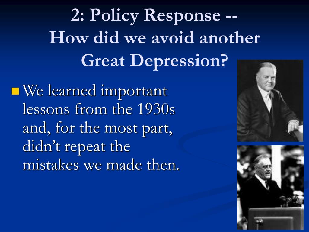 2: Policy Response --