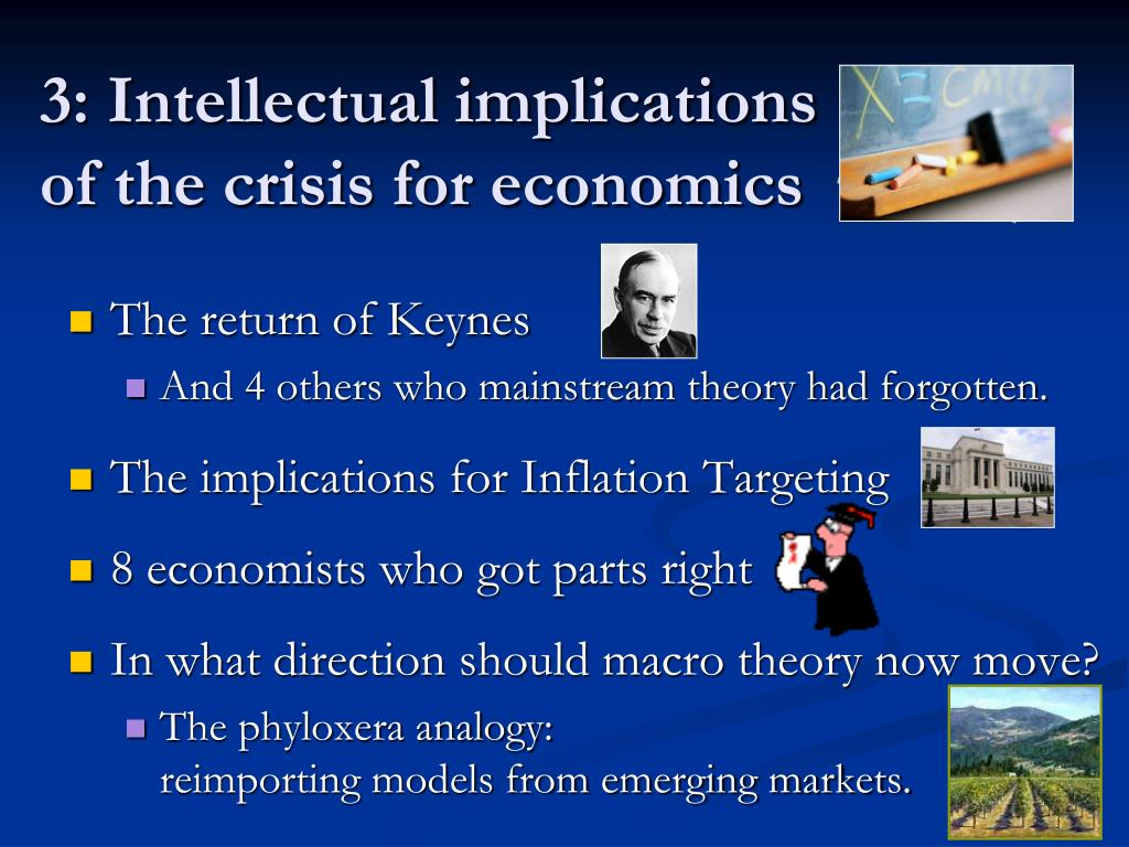 3: Intellectual implications of the crisis for economics