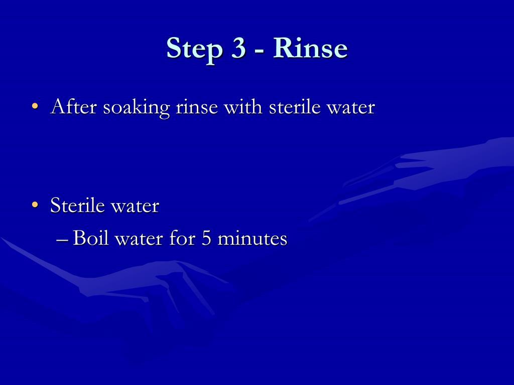 Step 3 - Rinse