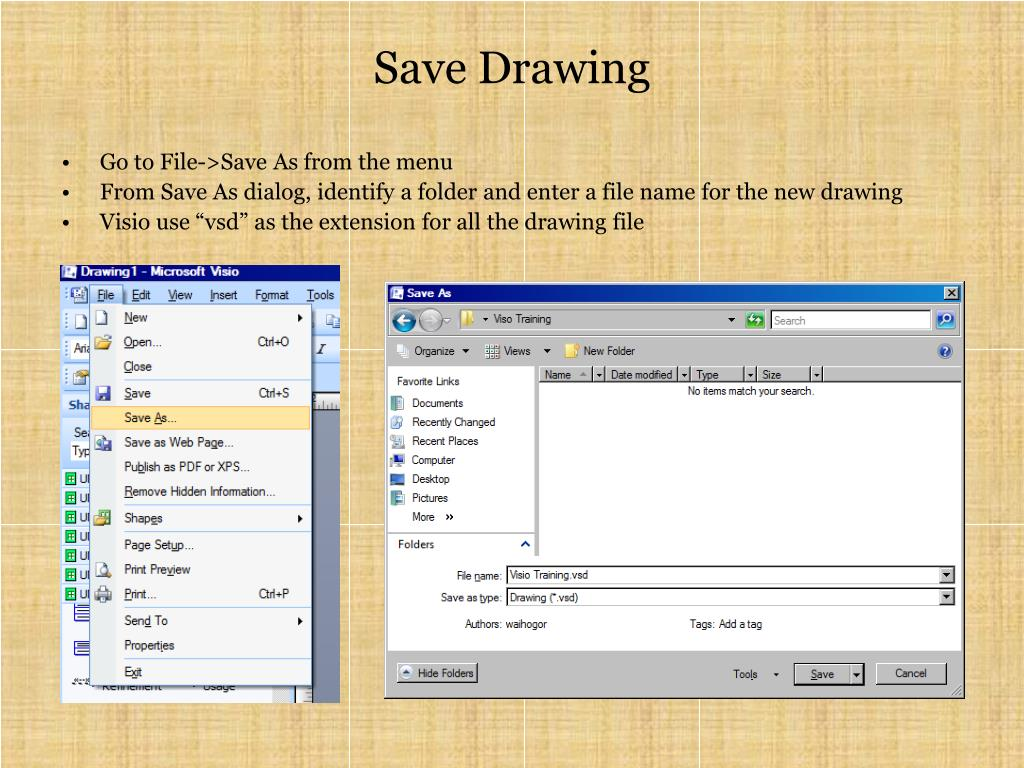 Save Drawing
