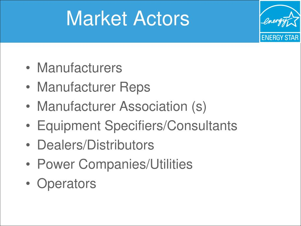 Market Actors
