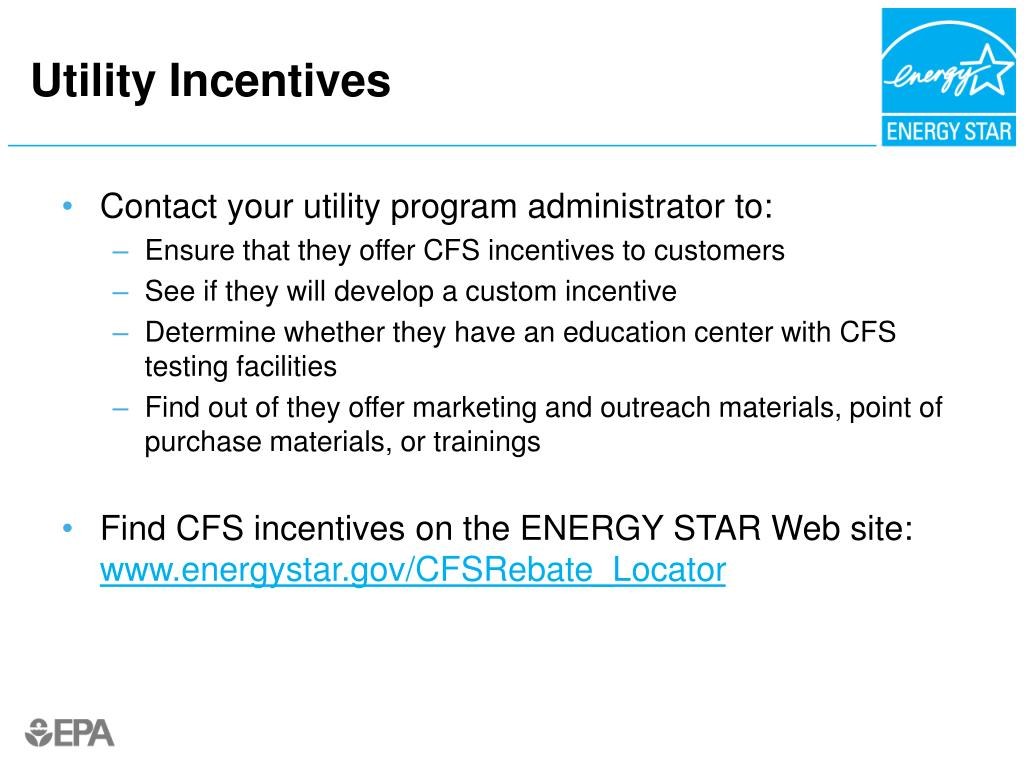 Utility Incentives