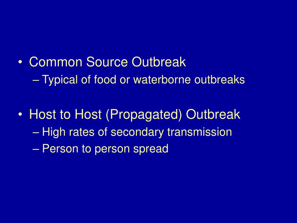 Common Source Outbreak