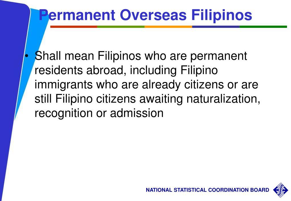 Permanent Overseas Filipinos