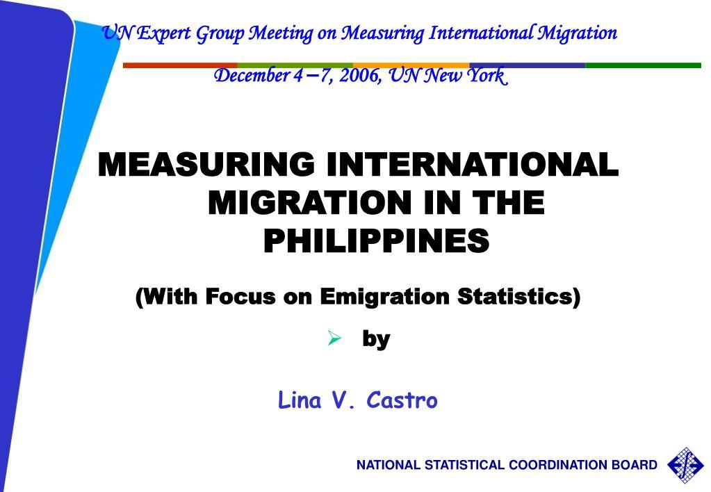 UN Expert Group Meeting on Measuring International Migration