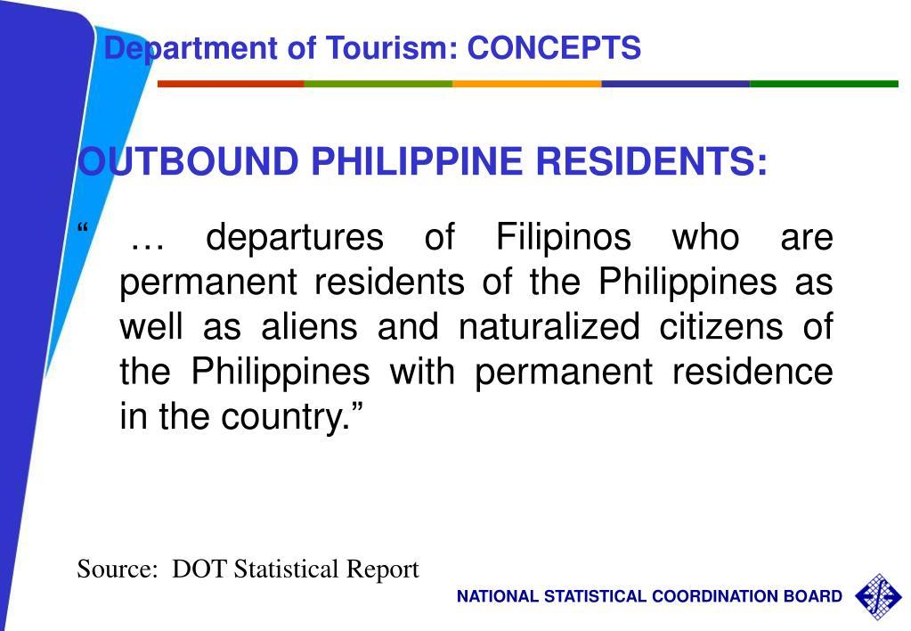Department of Tourism: CONCEPTS