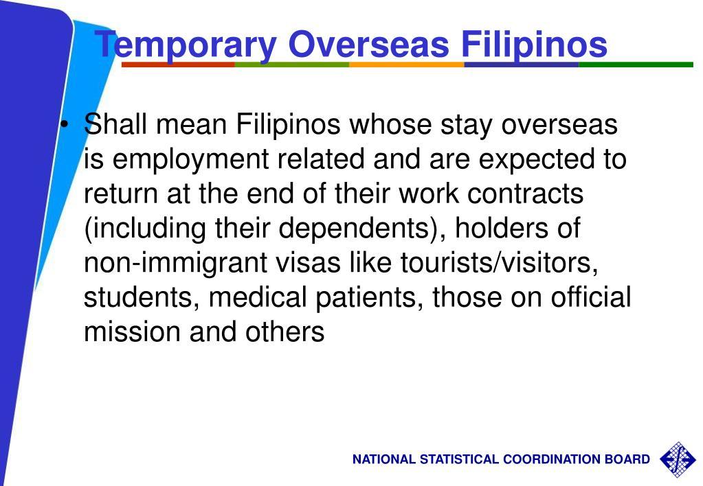 Temporary Overseas Filipinos