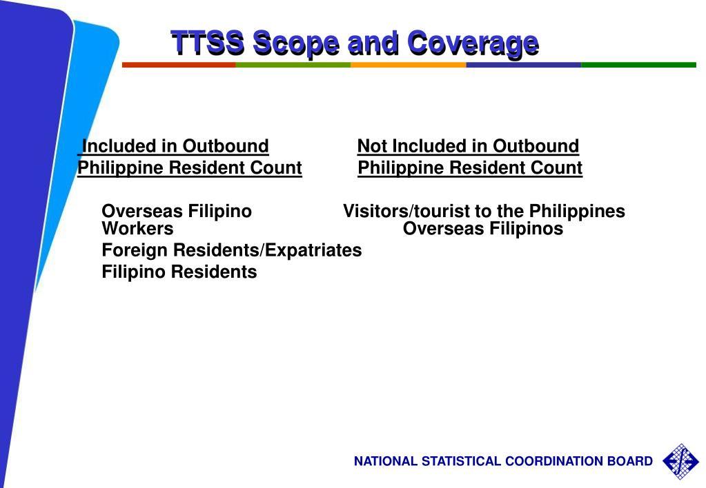 TTSS Scope and Coverage