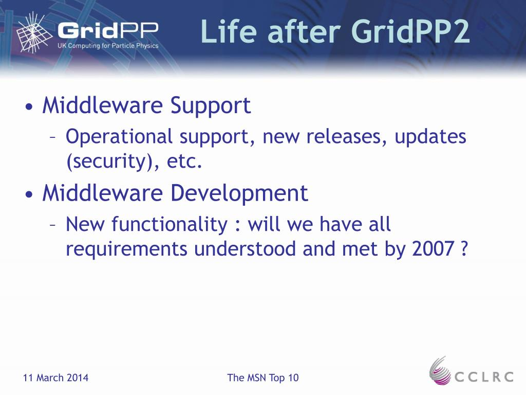 Life after GridPP2