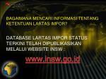 bagaimana mencari informasi tentang ketentuan lartas impor