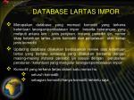 database lartas impor