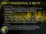 obat tradisional bb ot