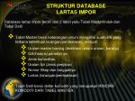 struktur database lartas impor