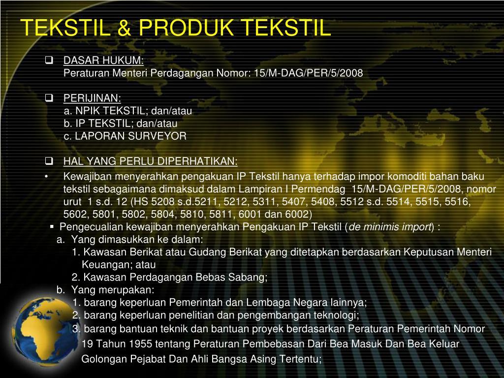 TEKSTIL & PRODUK TEKSTIL