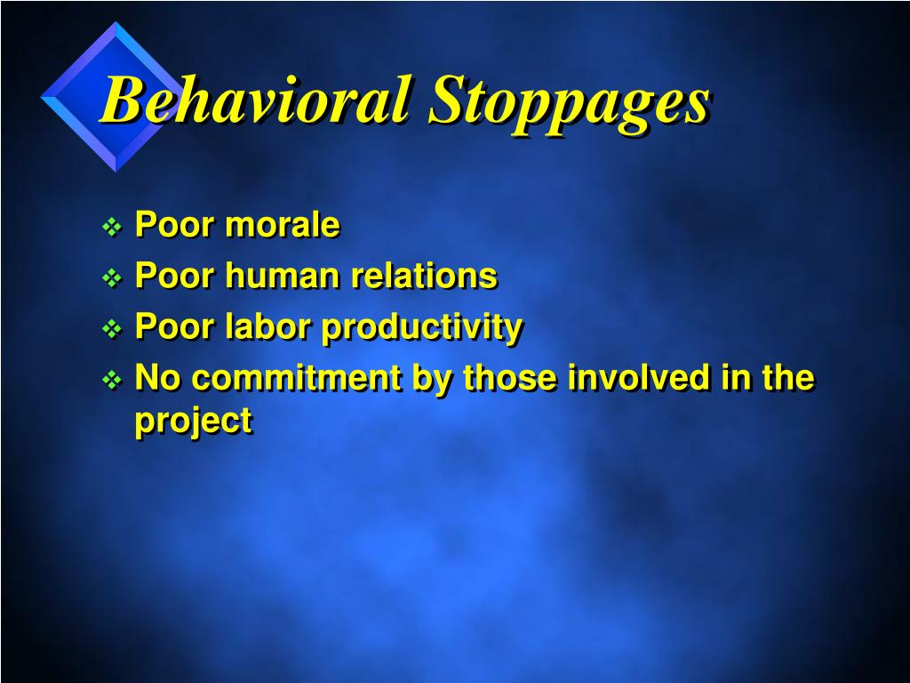 Behavioral Stoppages