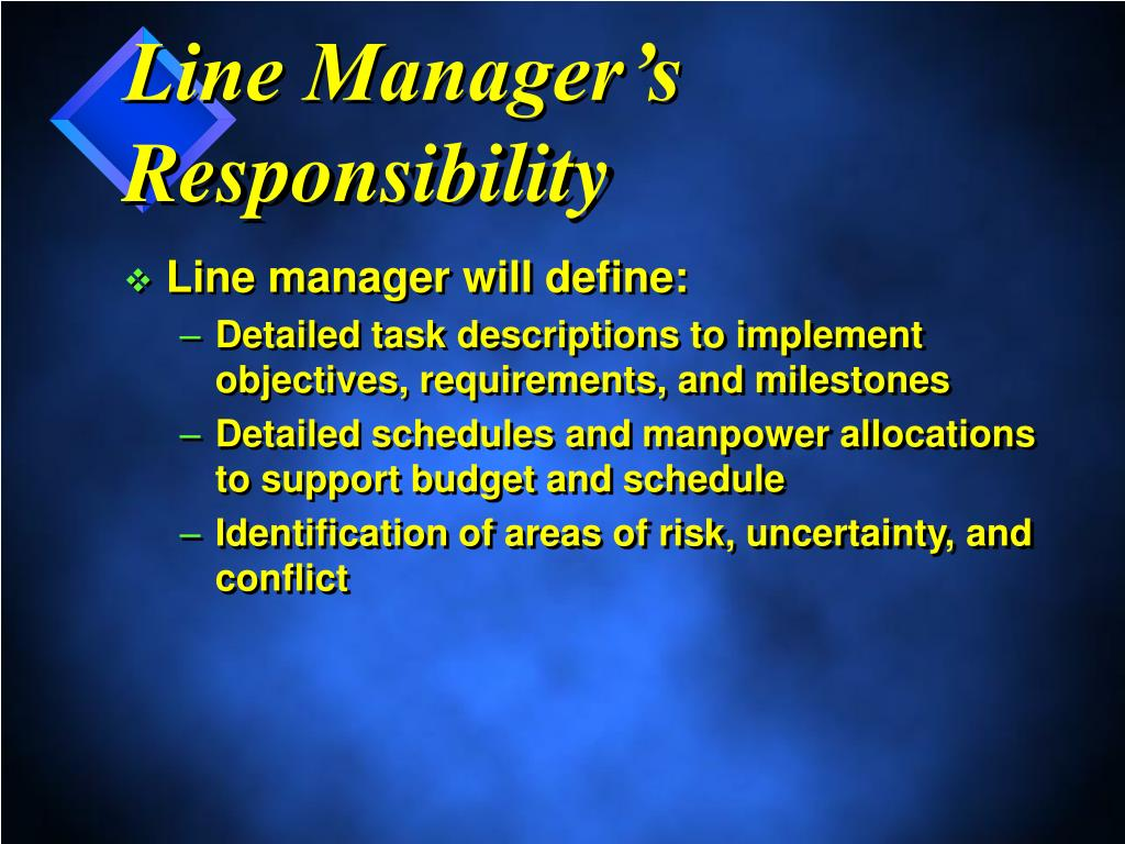 Line Manager's Responsibility