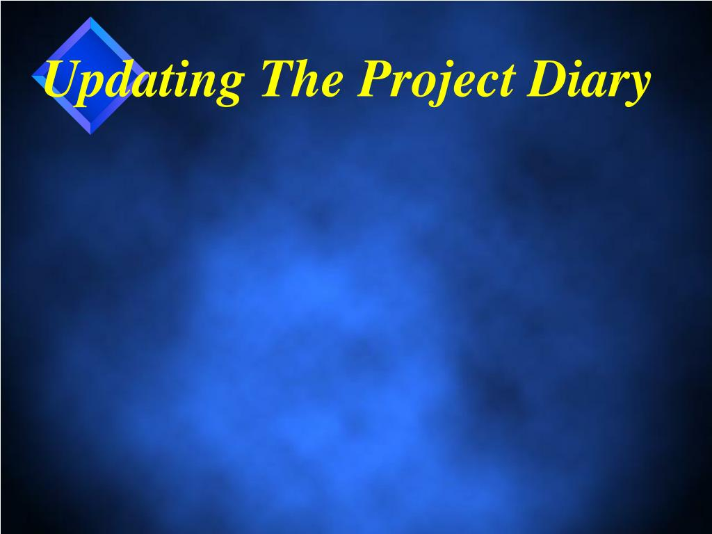 Updating The Project Diary