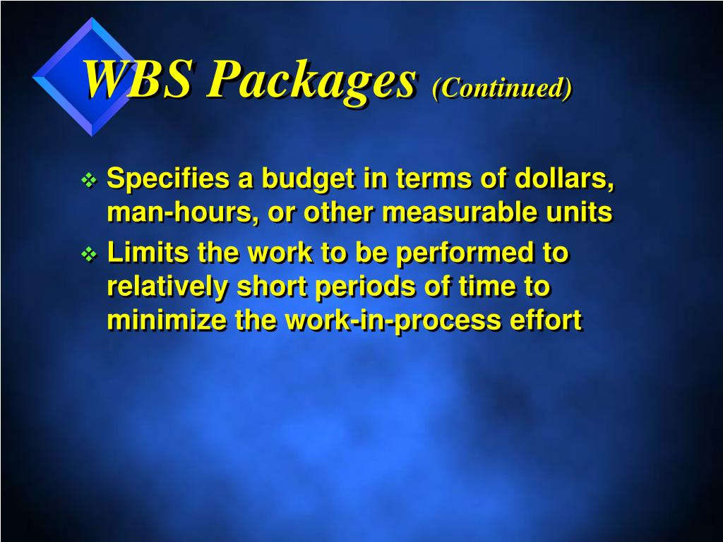 WBS Packages