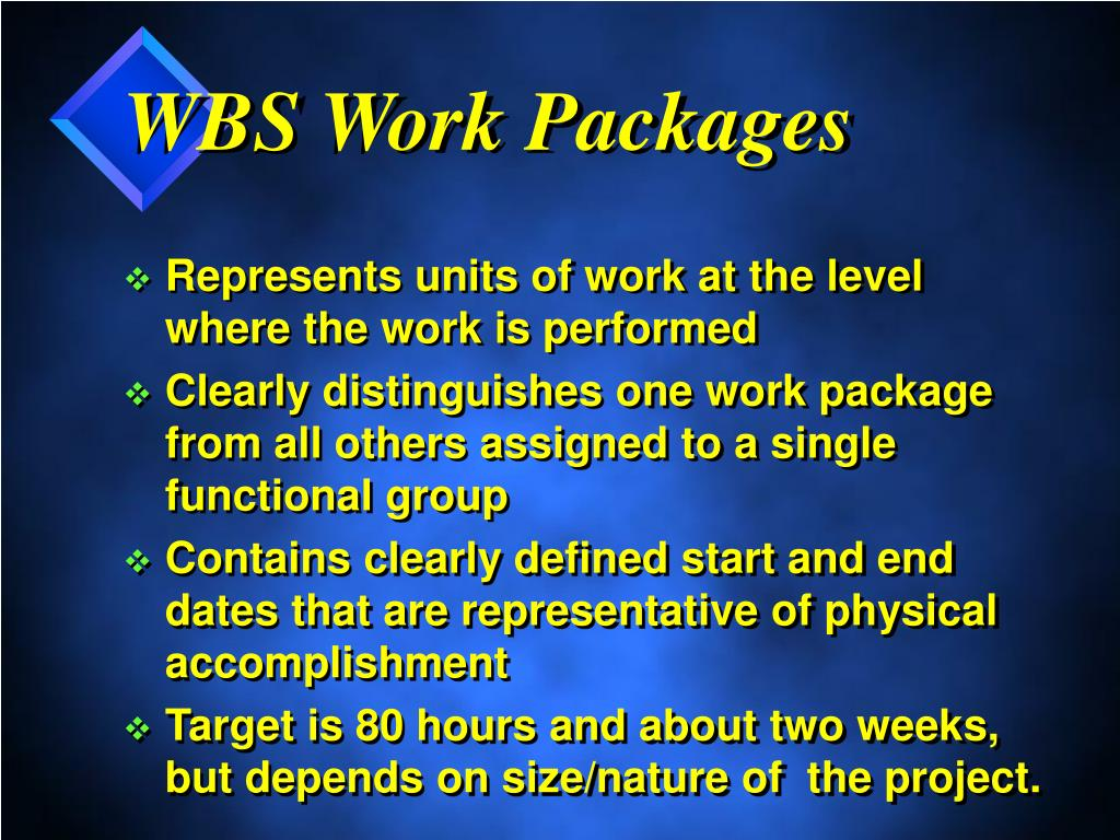 WBS Work Packages