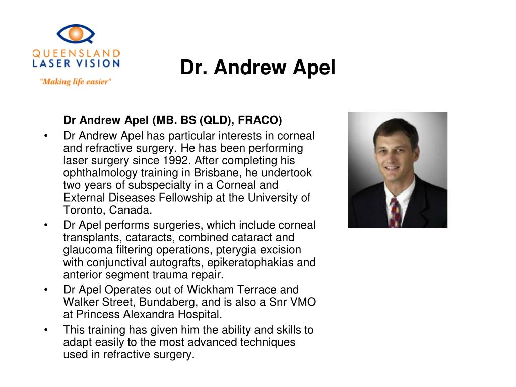 Dr. Andrew Apel