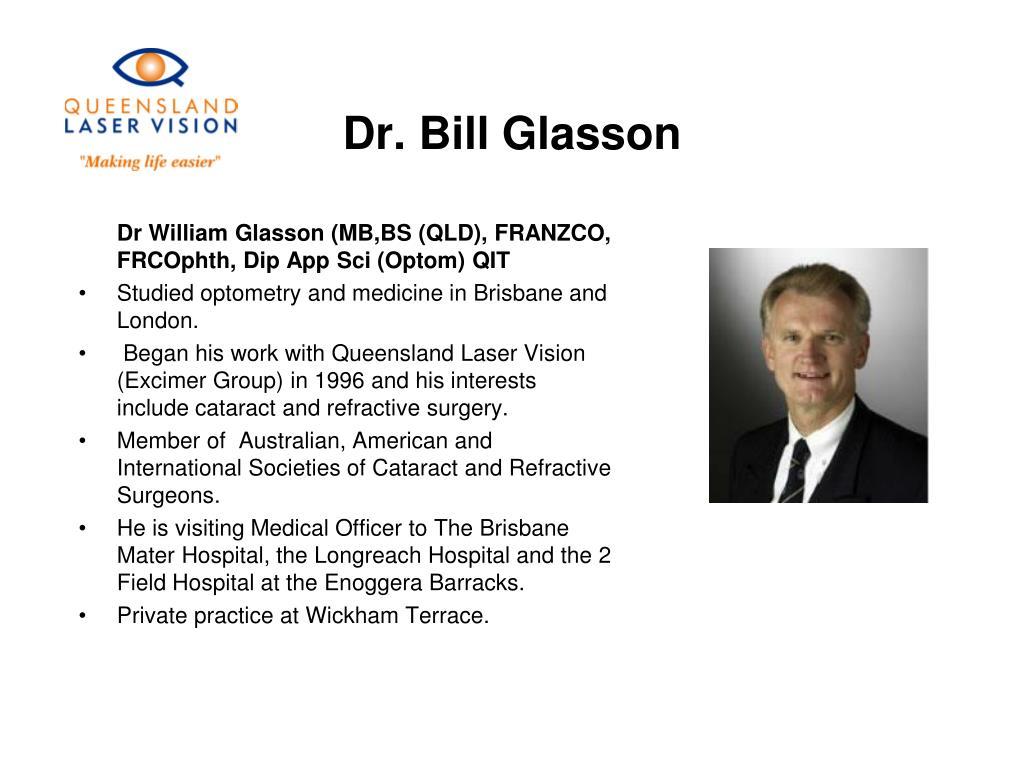 Dr. Bill Glasson