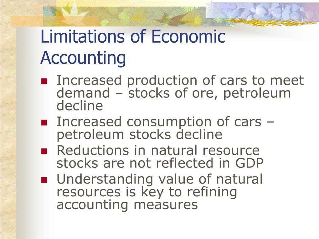 Limitations of Economic Accounting